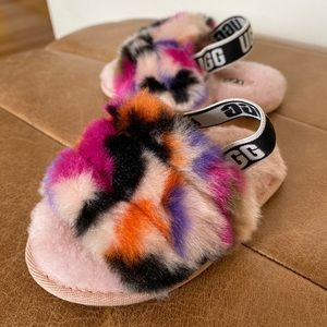 UGG faux fur wool slippers baby girl size US 6